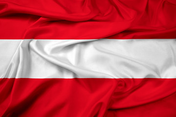 Waving Austria Flag