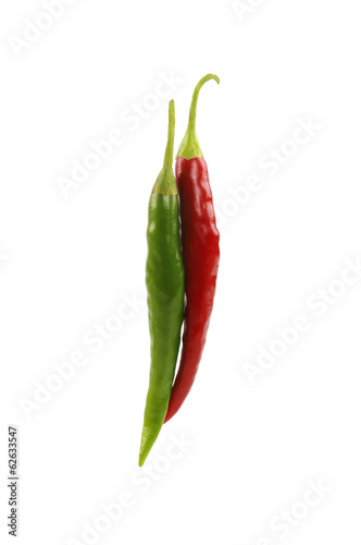 Green and Red Chilli