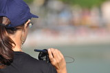 Donna poliziotto in azione