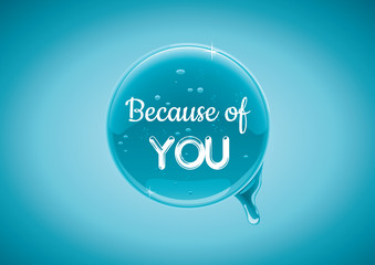 Shiny button/Because of you