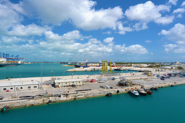 Industrial view in Freeport - Bahamas