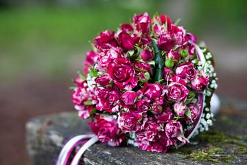 Brautstrauß pinke Rosen