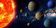 Leinwandbild Motiv Solar system