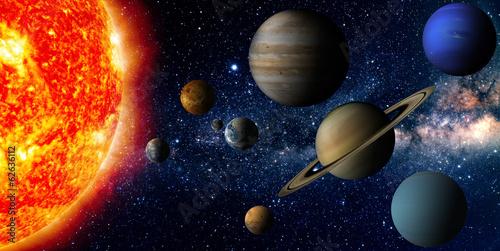 Keuken foto achterwand Ruimtelijk Solar system