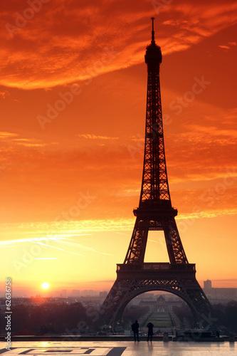 Tour Eiffel et esplanade du Trocadéro