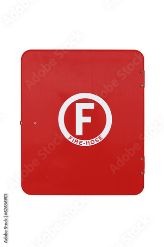isolated red fire hose