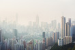 Air pollution hangs over Hong Kong Island - 62637101