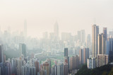Fototapety Air pollution hangs over Hong Kong Island