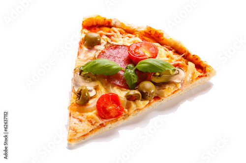 Pizza on white background - 62637112