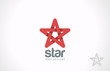 Star five point infinity loop vector logo design. Looped icon