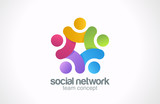 Social network vector logo design. Internet outernet icon