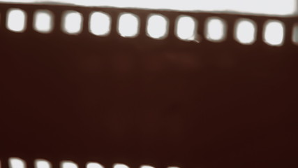 Film strip damaged curled up