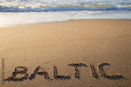 Inscription on the sand