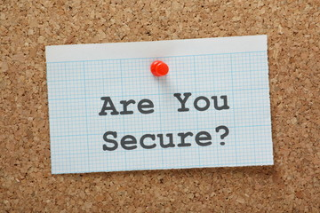 The question Are You Secure?