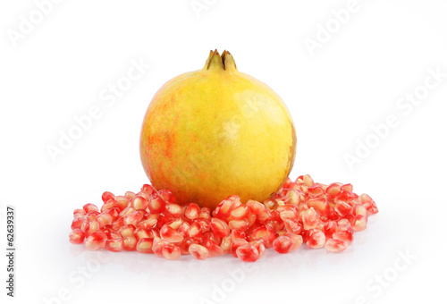 Pomegranate isolated on white