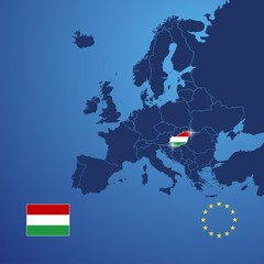 Hungary map cover vector