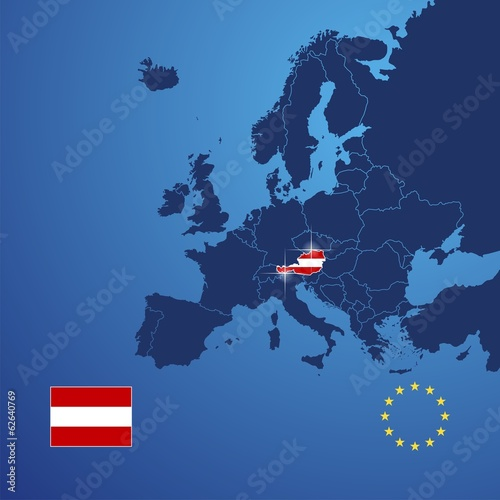 Austria map cover vector