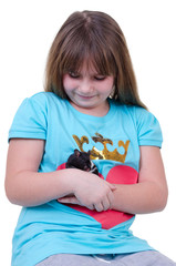 Young girl with hamster
