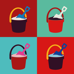 pop pail and shovel toys set
