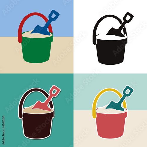 pail and shovel toys set