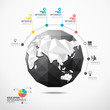globe world map illustration infographics geometric concept desi