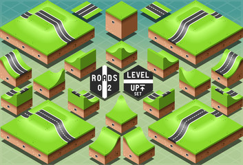 Isometric Roads on Two Levels Terrain