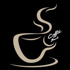Coffee cup emblem