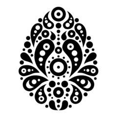 Ornamental floral decorative easter egg.