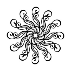 Beautiful Deco Circle (Vector), Patterned design