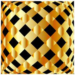 Golden grid background