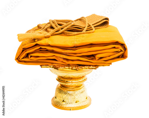 yellow robe of monk