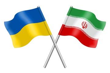 Flags: Ukraine and Iran