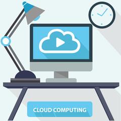 Cloud Computing concept,vector