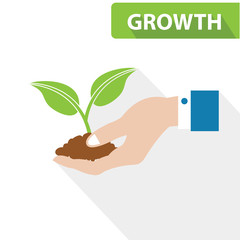 Growth concept,vector