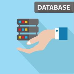 Database concept,vector