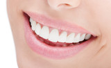 Fototapety closeup of smile with white healthy teeth