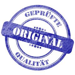 Original, Qualität, Blauer Stempel
