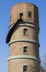 Vintage water tower made of bricks