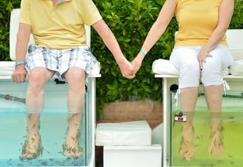 Couple at Fish spa skin treatment
