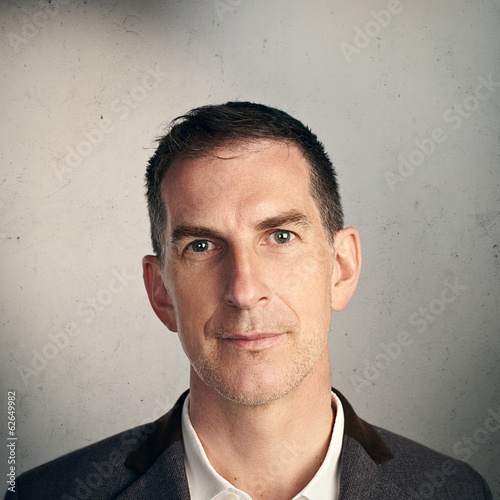 canvas print picture Portrait of serious man