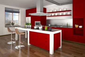 3D - Moderne Küche (IV)