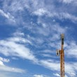 construction crane in blue sky