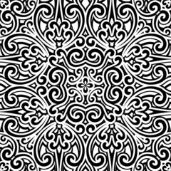 Black and white seamless pattern, antique ornament