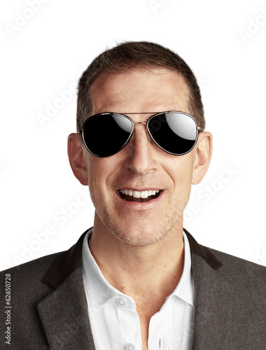 portrait of mature man wearing sunglasses