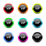 vip icon vector set