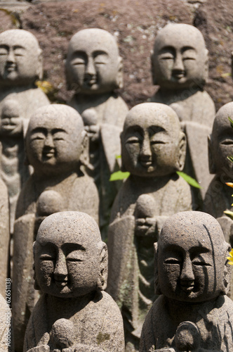 Statues of japanese monk Jizo, Kamakura