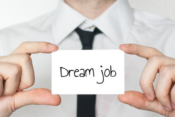 Dream job on a card