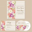 Set of wedding invitation, thank you, RSVP card
