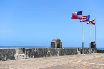 Flags Flying Atop Castillo San Cristobal Fort