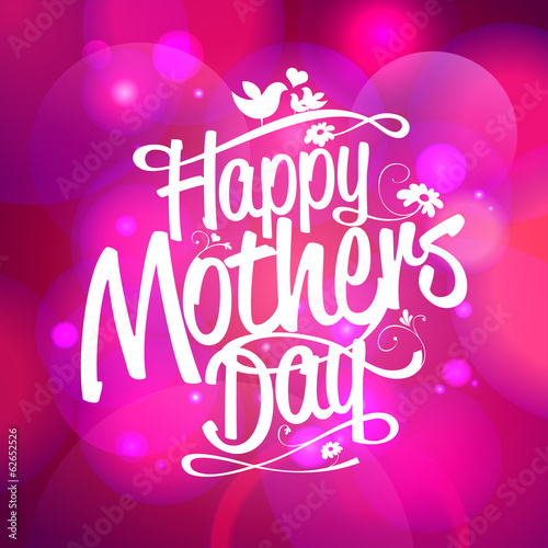Happy Mothers day on a bokeh lights background.